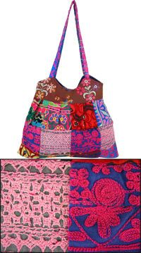 Life's Mosaic Embroidered Patchwork Bag at The Hunger Site