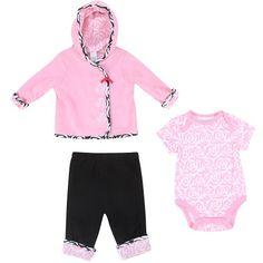 Offspring- Baby Girls Newborn Magenta 3 Piece « Clothing Impulse