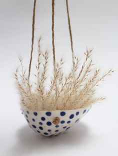 hanging porcelain planter