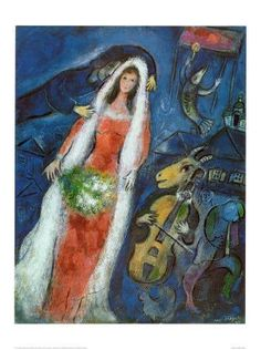 Chagal La Mariee...nothing says love like a violin-playing goat...