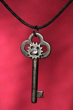 Antique skeleton key necklace by RagsAndOldIron13 on Etsy, $30.00