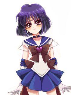 Hotaru (Sailor Saturn) of Sailor Moon, fanart by 基樹蜜葉