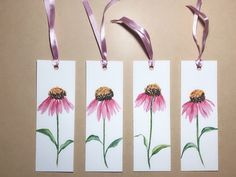 Excited to share the latest addition to my shop: Original painting watercolor painting handmade bookmarks Book lovers gift flower painting Coneflower painting Watercolor Books, Watercolor Bookmarks, Easy Watercolor, Watercolor Cards, Watercolor Flowers, Watercolor Paintings, Original Paintings, Diy Bookmarks, Corner Bookmarks