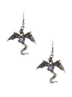 LOVEsick Dragon Gem Earrings | Hot Topic