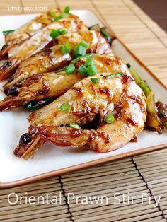 Little Inbox Recipe ~Eating Pleasure~: Oriental Prawn Stir-Fry