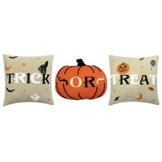 Celebrate Halloween Together Trick or Treat 3-pack Throw Pillow Set | Kohls...