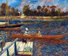 Pierre Auguste Renoir - The Seine at Argenteuil, 1888 at the Barnes Foundation Philadelphia PA | Flickr - Photo Sharing!