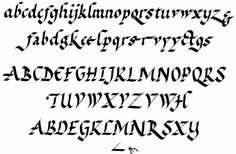 FOUNDATIONAL HAND (or Roundhand) - based on lettering from 10th century manuscripts