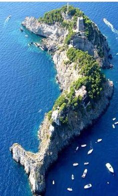 Li Galli Islands, Amalfi Coasts, Italy - Dolphin Island, southwest of Positano