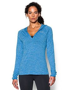 Women's Athletic Hoodies - Under Armour Womens Tech Long Sleeve Hooded Henley >>> Check this awesome product by going to the link at the image. (This is an Amazon affiliate link)