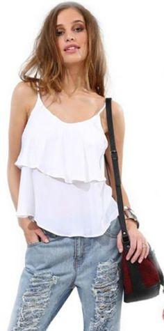 Humorous Plus Size Sleeveless Summer Blouse Women Back Cross Bandage Chiffon Vest Tank Top Oversized Loose Boho Beach Female Blusa Tops 100% Original Women's Clothing