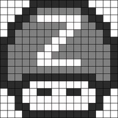 perler beads mushroom | Mushroom Perler Bead Pattern | Bead Sprites | Characters Fuse Bead ...
