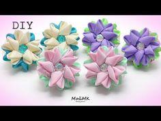 В этом мастер-классе я пошагово покажу, как сделать маленькие, красивые цветочки канзаши из репсовой ленты, диаметр которых всего 6см. Для изготовления цвето... Ribbon Art, Diy Ribbon, Ribbon Crafts, Flower Crafts, Ribbon Bows, Burlap Flowers, Diy Flowers, Fabric Flowers, Paper Flowers