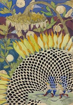 Charles Burchfield. I love the textures, colours, movement!