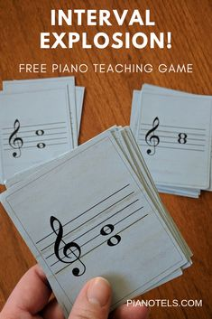 Piano Teaching Being able to identify intervals immediately is an essential skill for sight reading. That's why I like to do all I can to get my students to identify an interval by sight as quickly as possible. This game helps do just that! Music Activities For Kids, Preschool Music, Learning Games, Educational Activities, Piano Games, Music Games, Music Music, Piano Lessons, Music Lessons