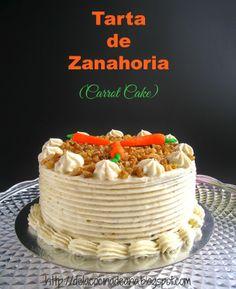 De la cocina de Ana: Tarta de Zanahoria con Crema de Queso (Carrot Cake)