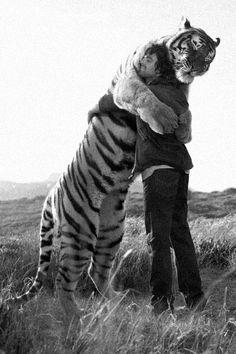 We hug.