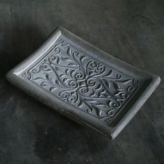 Uniquely elegant cement Filigree Soapdish. Discover home decor gifts at http://teakwarehouse.com/accessories/home-decor.html