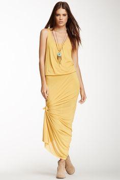 Sleeveless Sheer Maxi Dress
