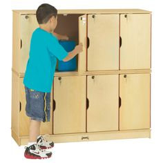 Jonti-Craft | Stacking Lockable Lockers - Double Stack