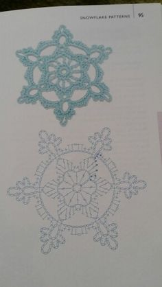 As Receitas de Crochê: Gráficos de anjos de croch - birthday month Crochet Snowflake Pattern, Crochet Stars, Crochet Snowflakes, Crochet Cross, Filet Crochet, Crochet Motif, Crochet Doilies, Crochet Flowers, Crochet Stitches