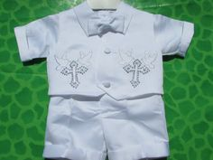 Baptism Christening Gown Baby Boy Dove by Christening1965 on Etsy