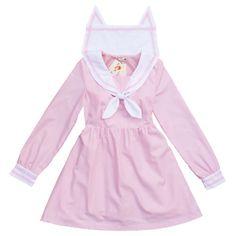 Fabric: Cotton Color: blue, pink Size: M, L M Skirt Length: 82cm Shoulder: 37cm Bust: 90cm Waist: 66cm Sleeve: 59cm L Skirt Length: 84cm Shoulder: 38cm Bust: 96cm Waist: 70cm Sleeve: 60cm
