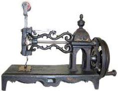 I learned to sew on my grandma's old treadle maching.................