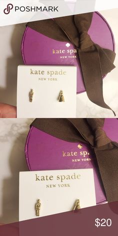 NEW Kate Spade bride & groom earring/ ear studs Very cute! Brand new. Perfect little wedding gift. Come with original dusty bag and gift box. kate spade Jewelry Earrings