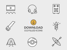 Free 152 Filled Icons