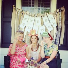 cute bridal shower photo booth   Cute photo booth props