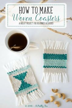DIY Woven Coasters 2019 Make some super cute woven coasters using cardboard yarn and needle. So simple and beautiful to create. A great project for beginner weavers! The post DIY Woven Coasters 2019 appeared first on Weaving ideas. Weaving Projects, Craft Projects, Diy Projects With Yarn, Diy Using Yarn, Simple Projects, Macrame Projects, Crochet Projects, Craft Ideas, Diy Coasters