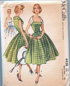 1950s vintage pattern UNCUT McCalls 4428 1958 size by GreatScott,