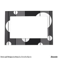 Dots and Stripes in Grey Magnetic Photo Frames