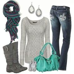 A fashion look from November 2013 featuring Jane Norman sweaters, Hydraulic jeans and David Yurman earrings. Browse and shop related looks. Casual Outfits, Cute Outfits, Fashion Outfits, Amazing Outfits, Casual Clothes, Winter Clothes, Fashion Clothes, Casual Wear, Fall Winter Outfits