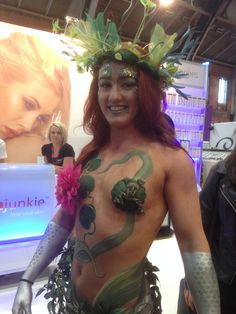 Nixie Body Paint for Professional Beauty North 2014 Artist Kate Cox (Funky Monkey Face Painting & Body Art)