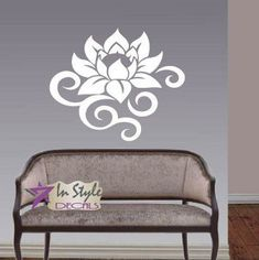 Create a relaxing refuge in your home with lotus flower wall art. You can use lotus flower wall decor in any room of your home but especially bedrooms, living rooms and bathrooms.  Although I love it in my office.  You can find cute lotus flower clocks, lotus flower wall tapestries, lotus flower wall decals, lotus flower wall murals that loook cute. Wall Vinyl Decal Home Decor Art Sticker Lotus Flower Abstract Floral Pattern Bedroom Livingv Room