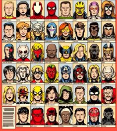 Marvel heroes II for You are Your Own Superhero unit Marvel Comic Character, Comic Book Characters, Marvel Characters, Comic Books Art, Comic Art, Marvel Heroes, Marvel Dc Comics, Especie Animal, Comic Book Covers