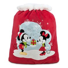 Mickey and Minnie Mouse Personalizable Plush Santa Sack - Large ($29.95)