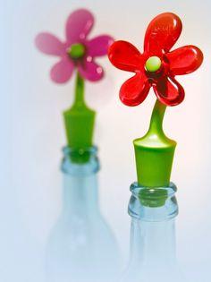 bouchon de bouteille fleur by koziol