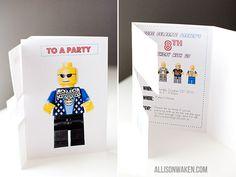 LEGO PARTY PART 1 - THEINVITATION! - Allison Waken's Blog -