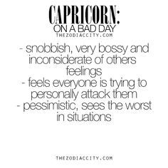 Zodiac Capricorn on a bad day. For much more on... - TheZodiacCity ...