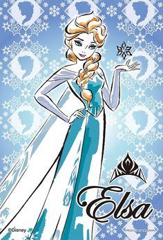 70ピース ジグソーパズル プリズムアートプチ アナと雪の女王 エルサ-Elsa-(10x14.7cm)