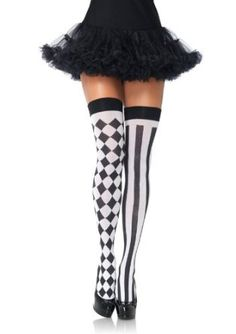 $3.94-$8.95  Leg Avenue Women's Harlequin Thigh Highs