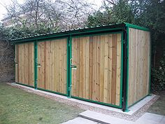 Stables style shed - three doors