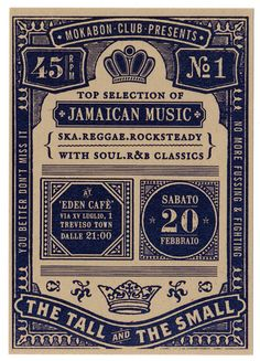 Jamaican allnighter by Nicolò Giacomin, via Behance