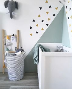 Clever ideas and motivation for creating super-fun as well as vibrant kids spaces! Vibrant wall surfaces don't need to be your primary step to offer your kid the playful space of their dreams. Baby Boy Rooms, Baby Bedroom, Baby Room Decor, Baby Cribs, Kids Bedroom, Bedroom Decor, Childrens Bedroom, Nursery Room, Kids Room Design
