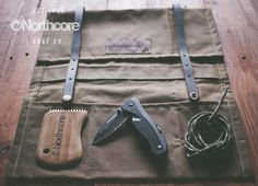 Northcore waxed canvas and leather, hand made surfers tool roll #surfing