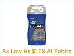 speedstick Speed Stick GEAR Deodorant As Low As $1.29 At Publix
