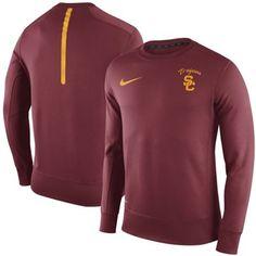 b91653bf Men's Nike Cardinal USC Trojans 2015 Sideline KO Performance Fleece Crew  Sweatshirt Texas Longhorns Logo,